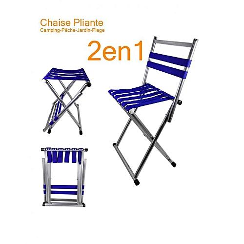 Léger 2 Et 1 Campingpêchejardin Pliable Festival Bleue De En Chaise X8nwPkN0O