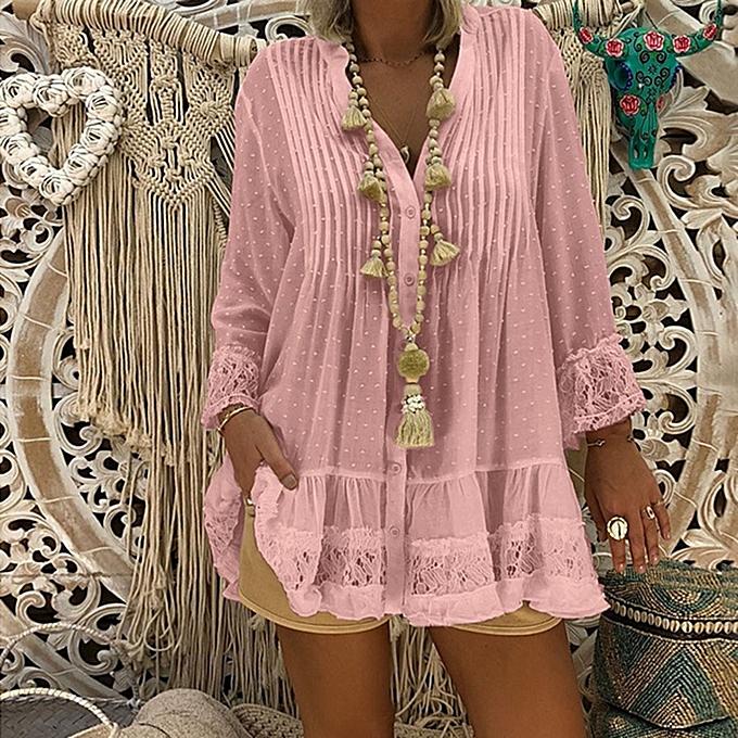 mode (Xiuxingzi) femmes V Neck Caftan Boho plage Cover Plus Taille Ladies Vintage Hippie sacgy Bloue à prix pas cher