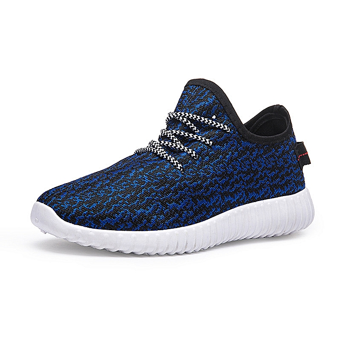 Fashion Casual breathable mesh chaussures hommes sports running chaussures bleu à prix pas cher    Jumia Maroc