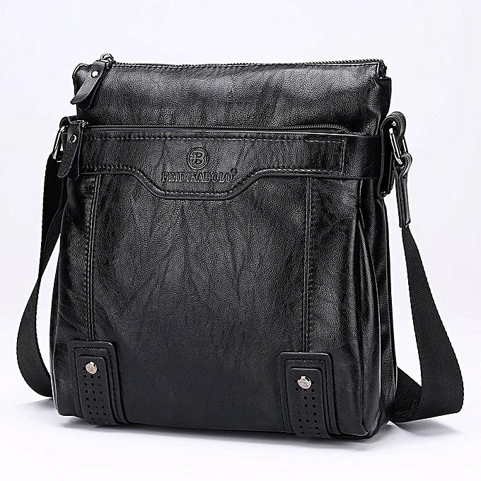 Other 2019 New Arrival Hot Selling business casual leather homme bag Fashion marron handbags and purses Casual men Messenger bag Wallets(noir) à prix pas cher