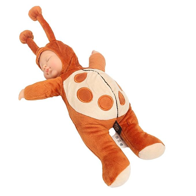 UNIVERSAL 12'' nouveauborn Sleeping Soft Silicone Viny Reborn   Ladybird Lifelike Doll Gift à prix pas cher