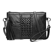 89edcea3be85c Envelope Bag Female Hand Shoulder Messenger Rivet Decoration Black