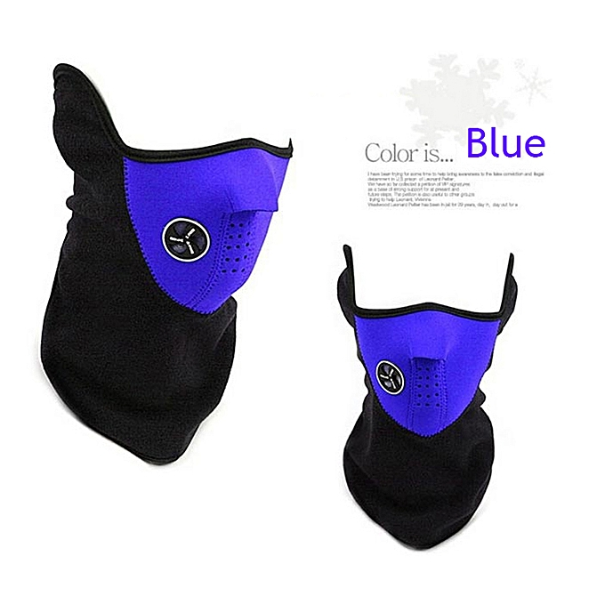 Autre Winter Warm Fleece Mask Motorcycle Bike Ski Cycling Half Face Mask Cover Outdoor Sports Balaclavas Windproof Neck Scarf Headwear( bleu) à prix pas cher