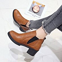 de72a8c5172a Jiahsyc Store Women Winter Ankle Boots Low Heels Fashion Boots Autumn Winter  Boots Shoes BW