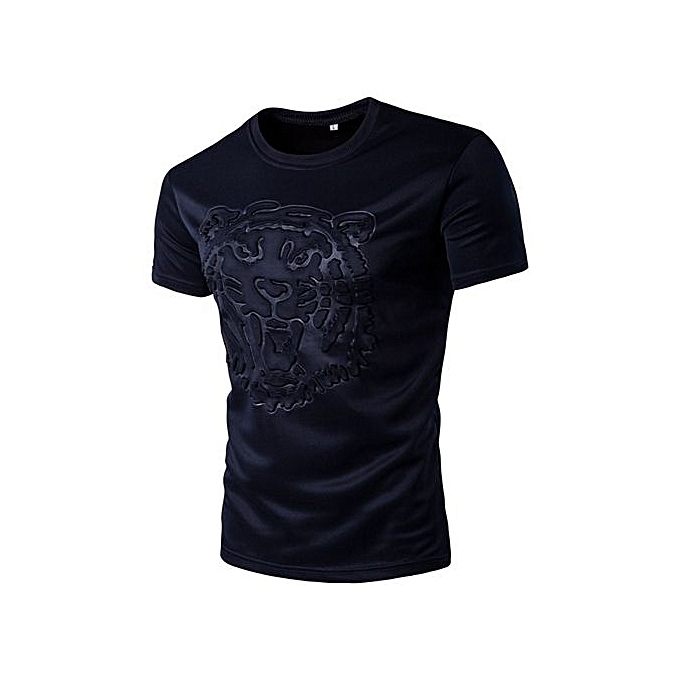 Generic Refined Hommes& 039;s Leisure T-shirt manche courted T-shirts Round Neck Solid Couleur Pattern Slim grand Taille Personality T-shirt à prix pas cher