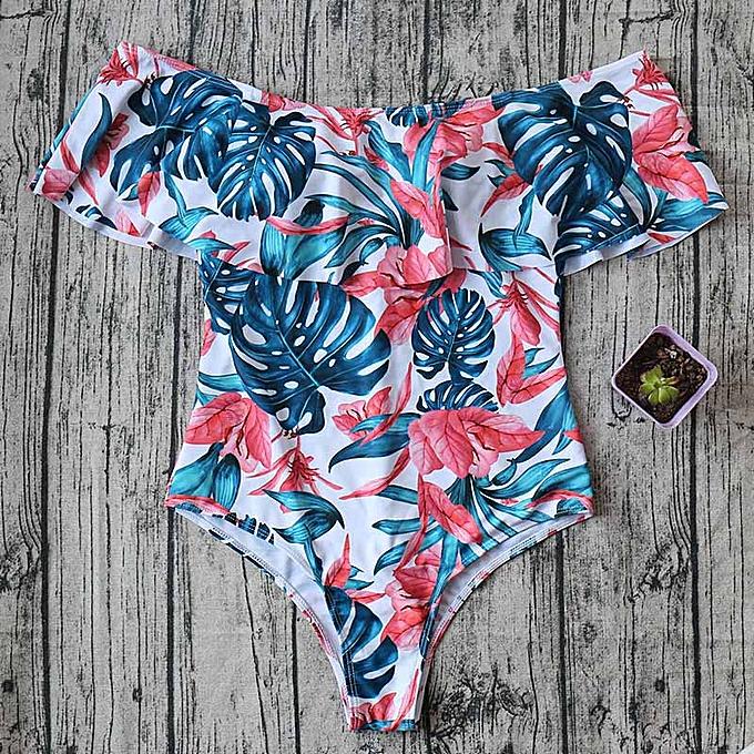 Autre maillot de bain Print Female femmes Fused maillot de bain Backless blanc maillot de bain May Bather XL(SJ17089W1) à prix pas cher