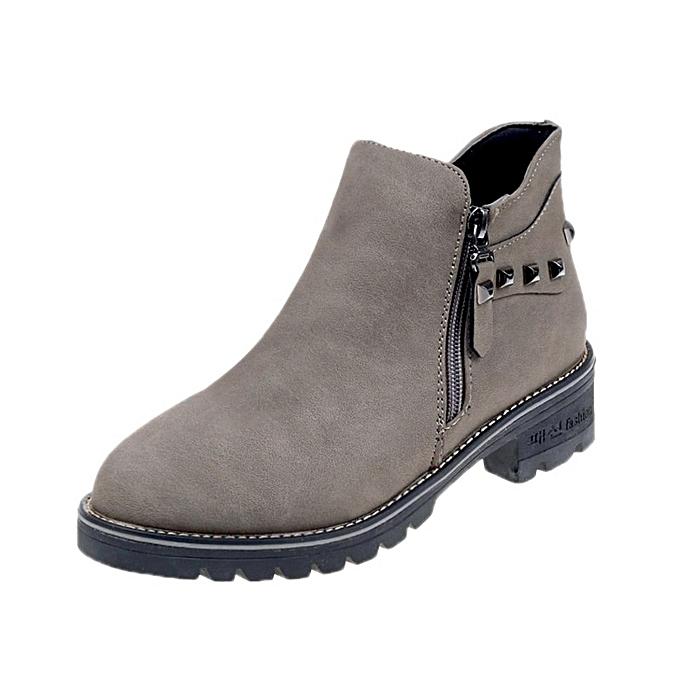 Autre Stylish 's WoHommes 's Stylish Casual Leather Zipper Ankle Boots à prix pas cher  | Jumia Maroc 38b4ce