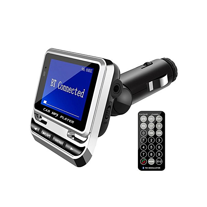 Generic FM12B 1.4 Inch Screen Display USB Charging Wireless FM Hands-Free Vehicle MP3 à prix pas cher