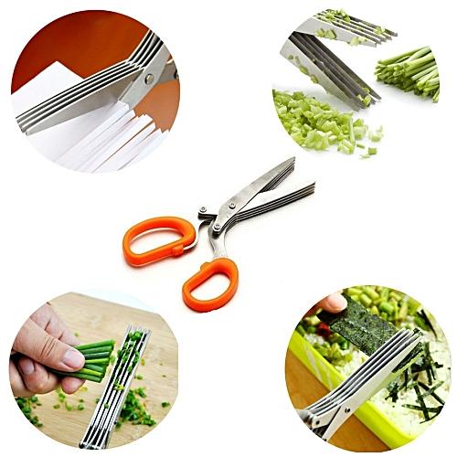 ciseau de cuisine 5 lames orange achat couteaux planches d couper jumia maroc. Black Bedroom Furniture Sets. Home Design Ideas