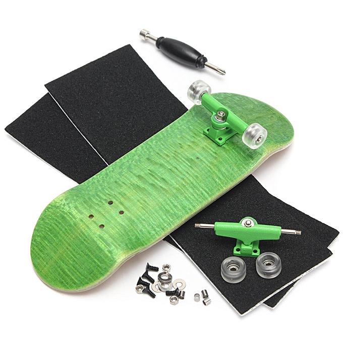 UNIVERSAL 3 Set Basic Complete boisen Fingerboard Finger Scooter with Beabague Grit Box Foam Tape vert à prix pas cher