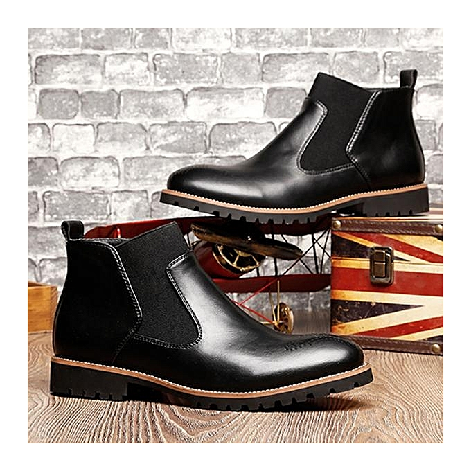 Fashion Fashion   Vintage Pointed Toe Hollow Hollow Hollow Out Genuine Leather Elastic Panels Ankle Boots-EU à prix pas cher  | Jumia Maroc a624fd