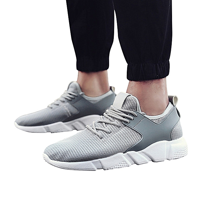 Fashion Jummoon Shop Men Fashion Solid Couleur Cross Tied Stripe Casual Gym chaussures Running chaussures GY à prix pas cher