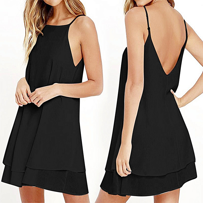 Fashion whiskyky store femmes Strappy Loose Casual Solid Short Mini Dress Summer Beach Dress Plus à prix pas cher