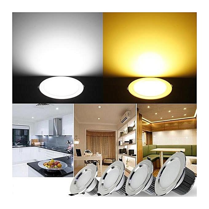 UNIVERSAL 15W LED Downlight Ceiling Recessed Bulb Lamp Pure blanc à prix pas cher