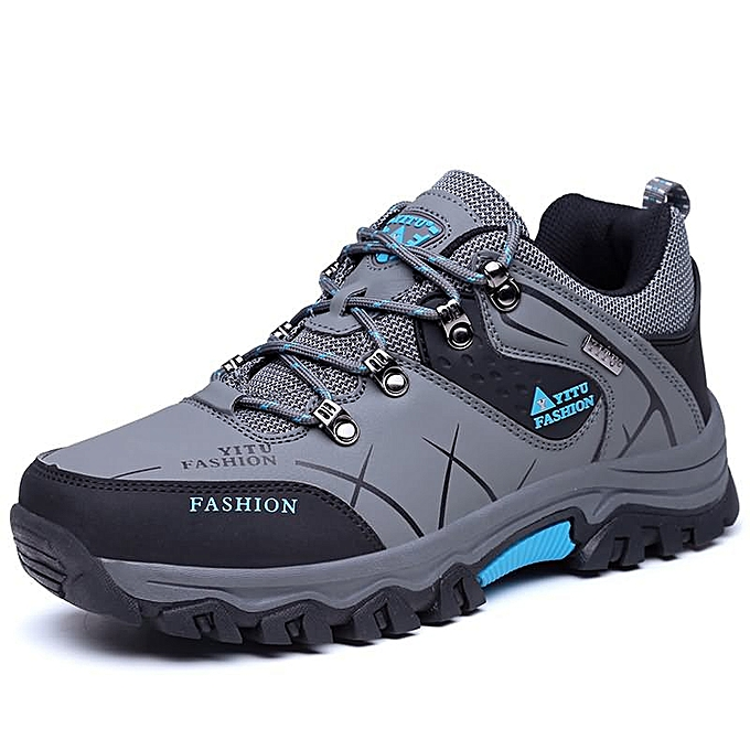 Fashion Man hiking mountaineering plus Taille hommes chaussures - gris à prix pas cher