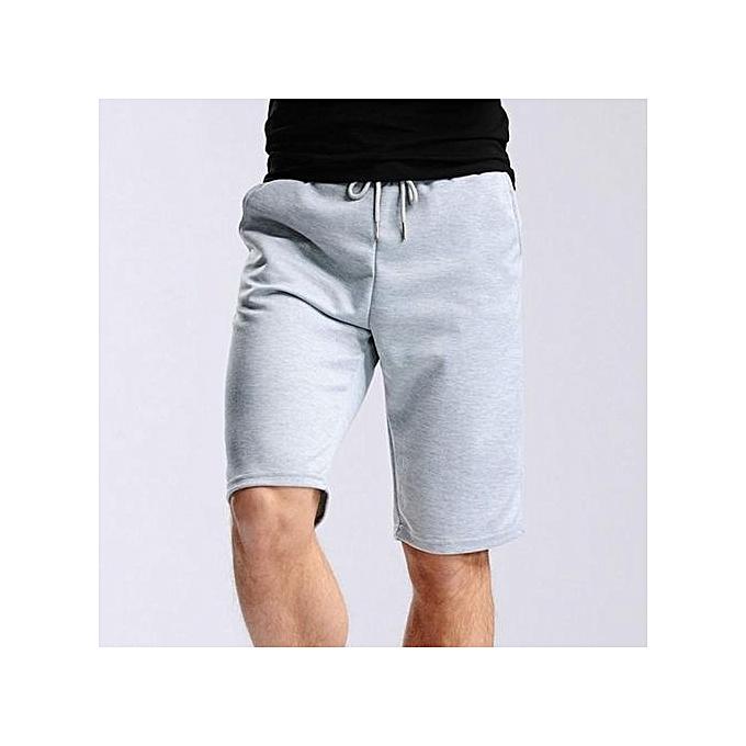 Generic Hommes& 039;s Décontracté Cotton Elastic Gym courtes (lumière gris) à prix pas cher
