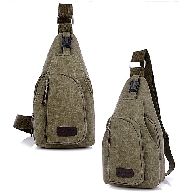 GENERAL Leadsmart Male Leisure Canvas Sports Sling Bag 5L à prix pas cher