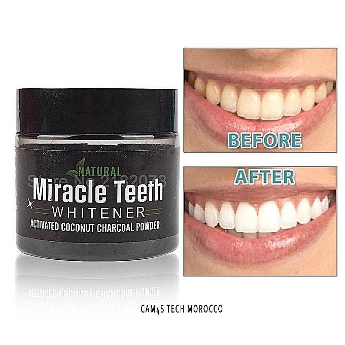 miracle teeth poudre blanchissant dents charbon actif en poudre biologique et naturel original. Black Bedroom Furniture Sets. Home Design Ideas
