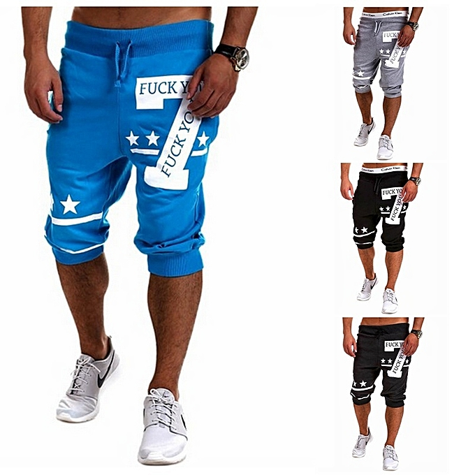Other New Stylish Casual Letters Printing Cropped Pants Men's Sports Pants à prix pas cher