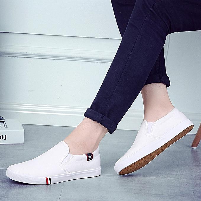 Fashion Men's canvas chaussures, foot chaussures, casual student chaussures bleu à prix pas cher    Jumia Maroc