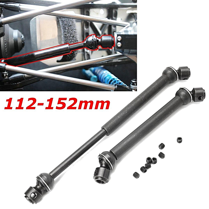 UNIVERSAL Heavy Duty Steel Drive Shaft 2pcs pair for Axial SCX10 Wraith RC Crawler Trucks à prix pas cher