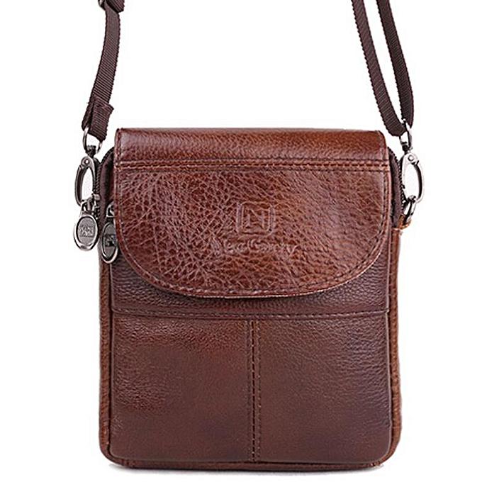 Other Vintage brand mini portable cuir Hommes sacs high quality natural cowskin Décontracté Hommes messenger sacs XJ298(marron) à prix pas cher