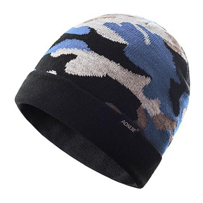 AONIJIE Men femmes Winter Warm Sports Knitted Hats Outdoor Sports Cap Warmer Running Jogging Marathon Hiking Cycling Hat(Light bleu) à prix pas cher