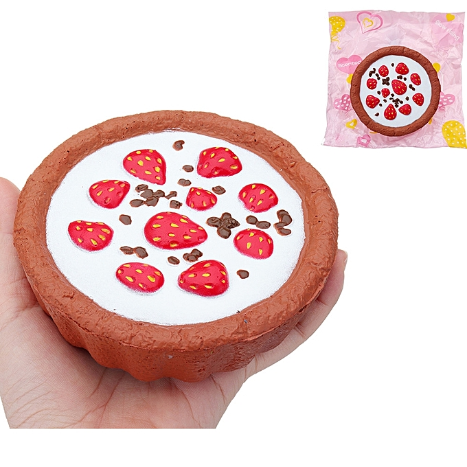UNIVERSAL Chocolate pailleberry Cake Squishy 124CM SFaible Rising With Packaging Collection Gift Soft Toy- à prix pas cher