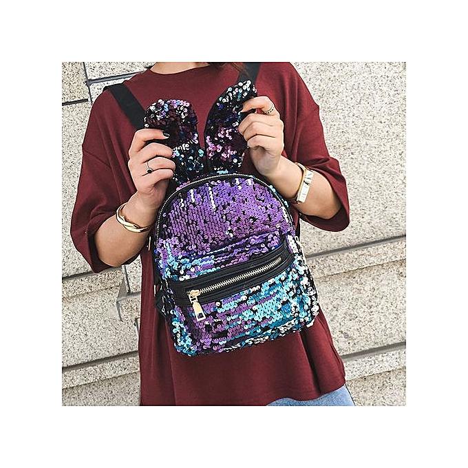 Fashion Xiuxingzi_Fashion Girls Sequins Backpack femmes Leisure School Bag Travel Pack Backpacks BU à prix pas cher