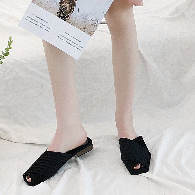 Fashion whiskyky store Fashion Home Female Slippers Fish Mouth Mother chaussures Trend Female Sandals à prix pas cher