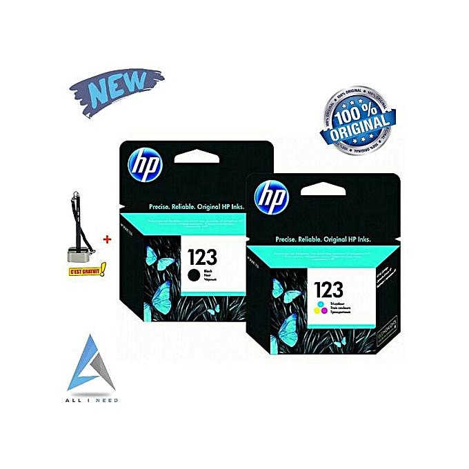 HP Cartouche 123 noir + 123 tri-Couleur - Produits Originale à prix pas cher