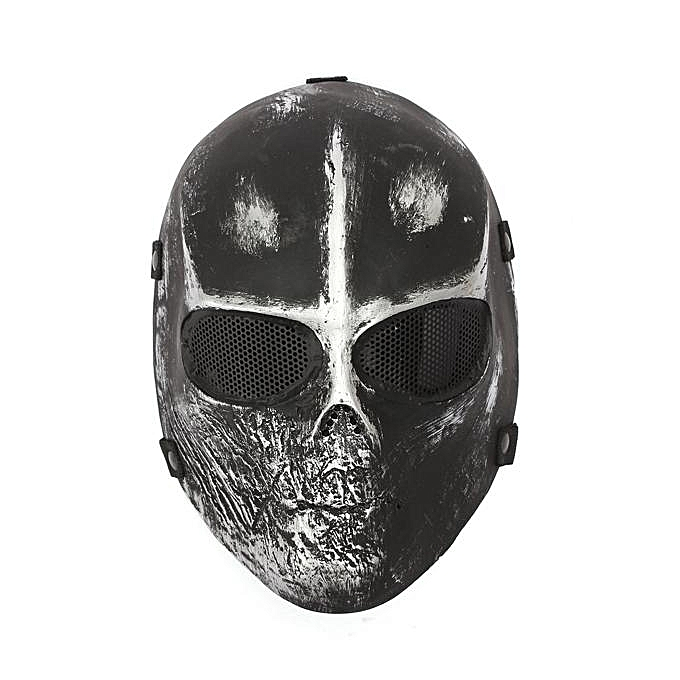UNIVERSAL Skull Full Face Mask Airsoft Paintball Hunting Goggle Halloween à prix pas cher