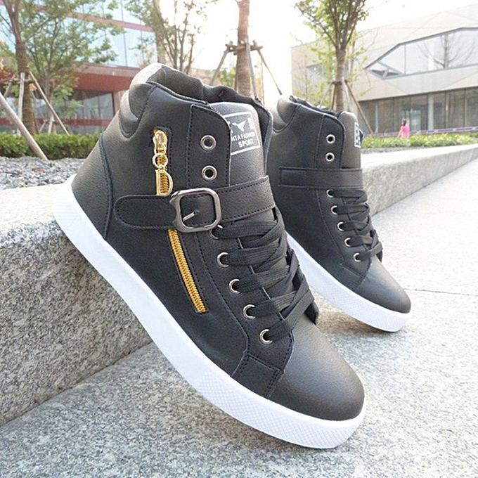 Other New Stylish Stylish Men's Breathable Students Basketball chaussures High Top Sports chaussures -noir à prix pas cher