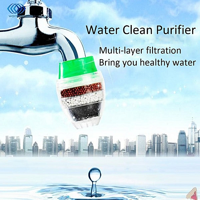 Other Household Activated Carbon Water Filter Mini Kitchen Faucet Purifier Water Purifying Plant Filtration Cartridge 21-23mm WAAAB à prix pas cher