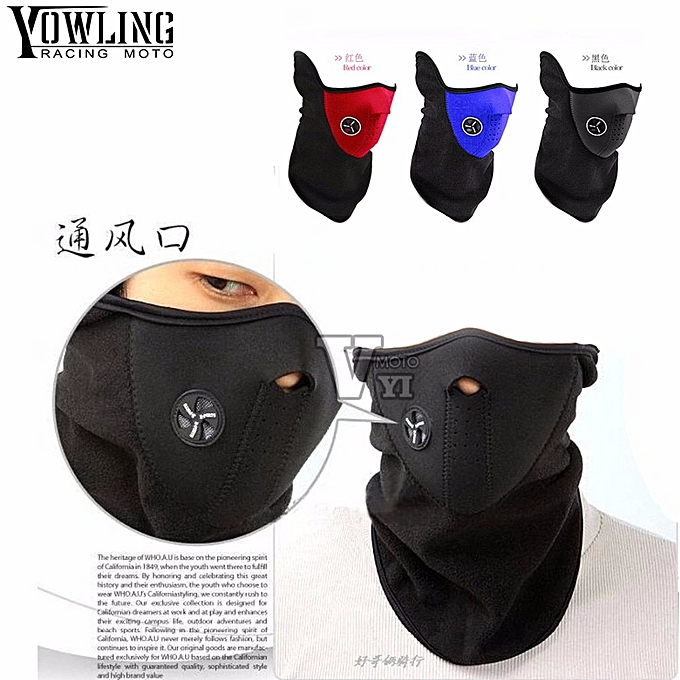 Autre Anti dust motorcycle skull ghost face windproof mask outdoor sports warm ski caps bicycle bike balaclavas scarf skull face mask( rouge) à prix pas cher