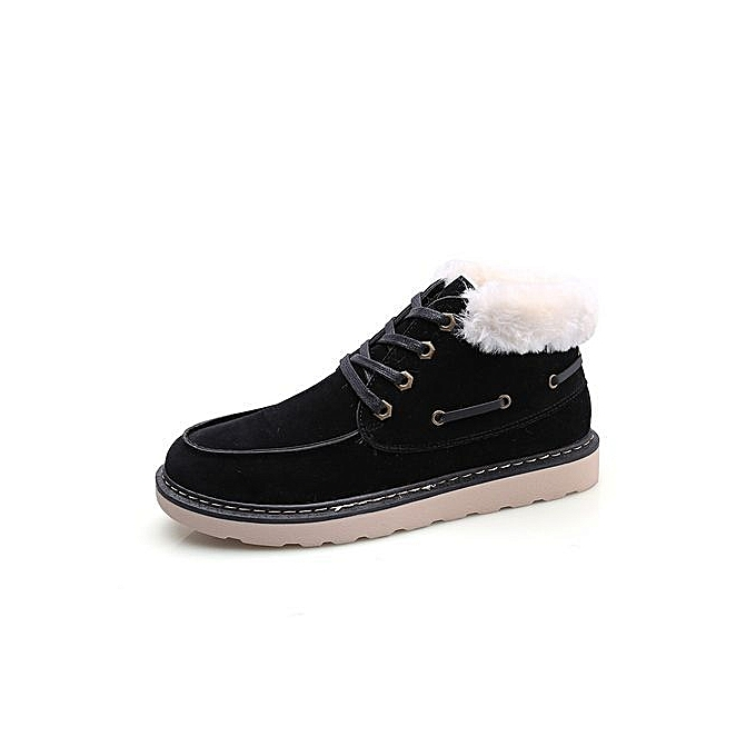 Fashion Winter Trend Snow Boots Vintage   Vintage 's Shoes Plush Cotton Warm Cotton Shoes-Noir  à prix pas cher  | Jumia Maroc 1d60b7
