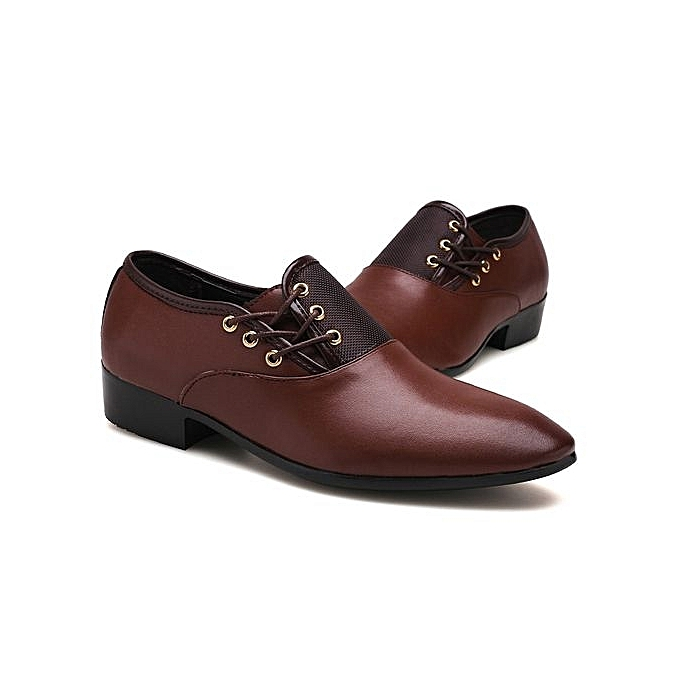 Zant Fashion Super Big Large Taille Business Fashion High Quality Winter Men's Super Gentle Wedding Leather chaussures Luxury Brand marron à prix pas cher    Jumia Maroc