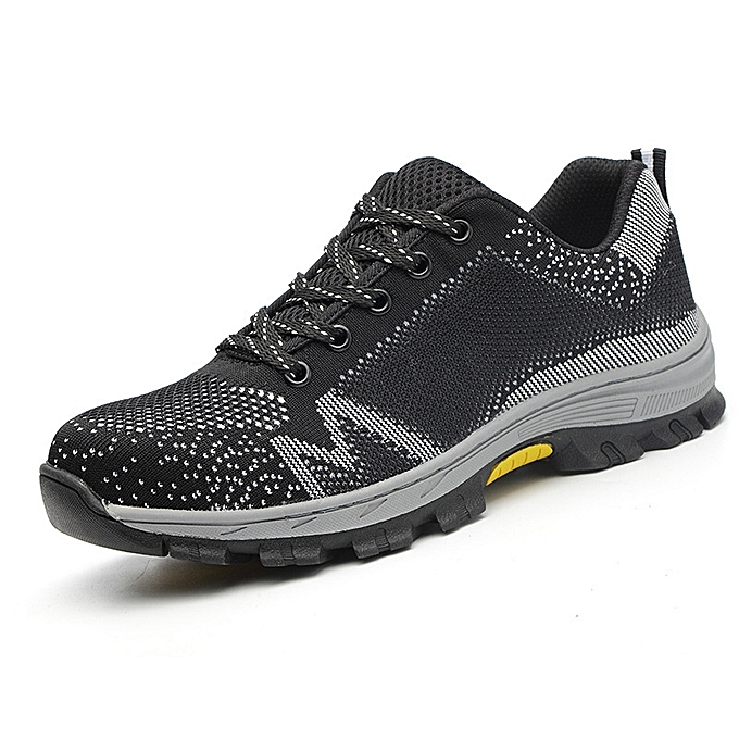 OEM Steel head breathable electric welding insulated prougeective chaussures, anti-smashing and anti-piercing safety chaussures-gris à prix pas cher