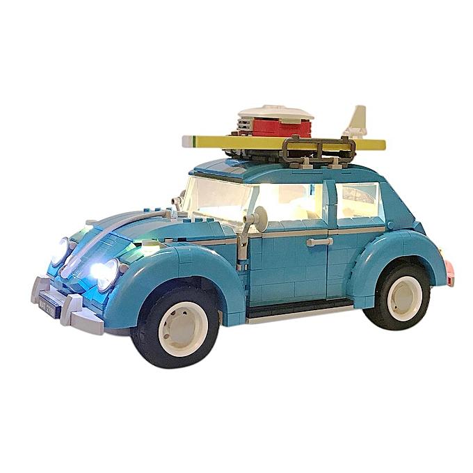 Autre Composants d'éclairage USB Pièces de construction de petite particule Accessoires Jouets éducatifs pour voiture Beetle LEGO 10252 (le kit LEGO n'est pas inclus) à prix pas cher