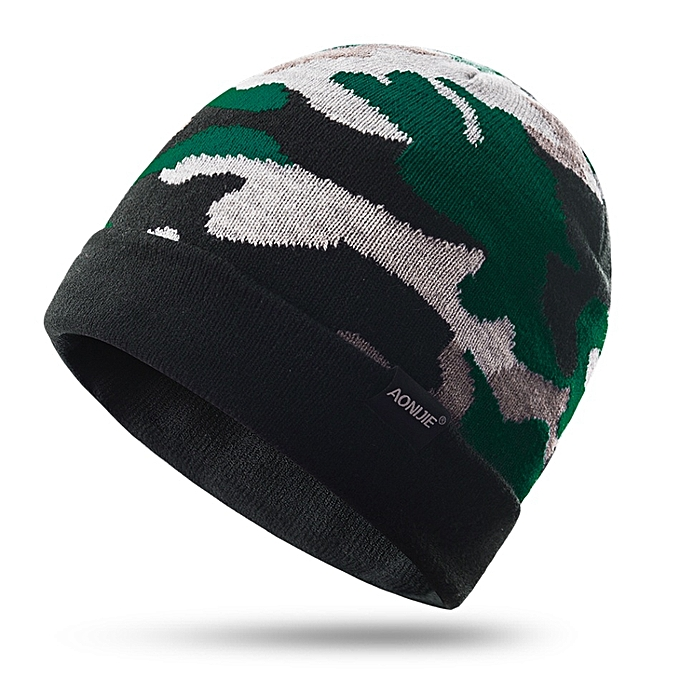 AONIJIE Winter Warm Knitted Running Cap Outdoor Cycling Cap Warm Ski Beanie for Hiking Cycling Running Skiing Sports Hat(vert) à prix pas cher