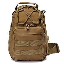 e00caba34c41 Outdoor Sport Camp Hiking Shoulder Sling Bag Military Tactical Backpack  Rucksack Tan