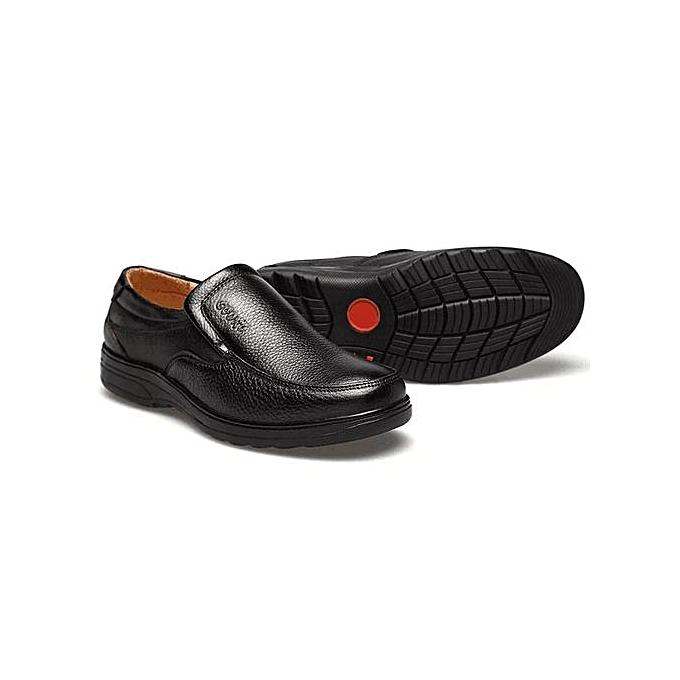Fashion Fashion Men Cow Leather Slip On Wear-resistant Casual Formal chaussures à prix pas cher    Jumia Maroc