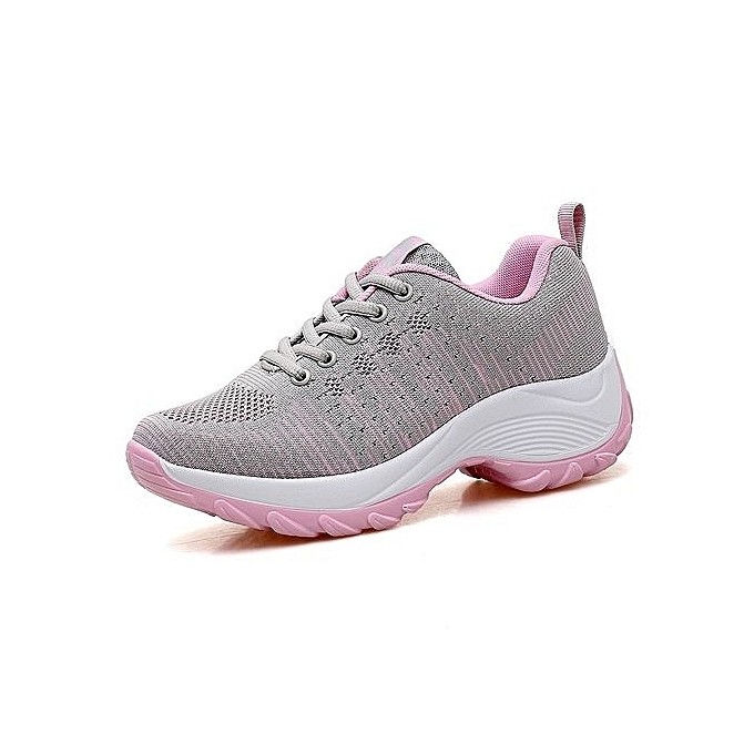 Fashion Breathable WoHommes Shoes 's Running Shoes WoHommes Air Cushion Outdoor Sport Shoes Sneaker - Grey à prix pas cher  | Jumia Maroc 9f11b3