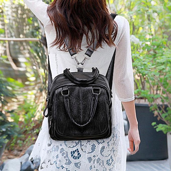 mode Vintage Girl cuir School sac sac à dos Satchel Student voyage Shoulder sac à prix pas cher