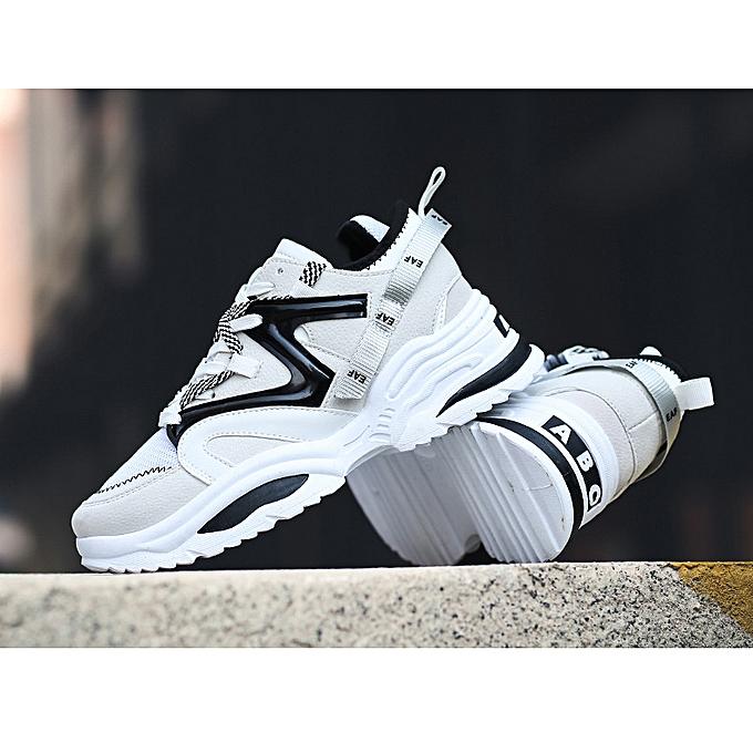 Fashion Men's chaussures mesh flying woven mesh chaussures sports chaussures hommes air cushion tide chaussures breathable running chaussures à prix pas cher    Jumia Maroc