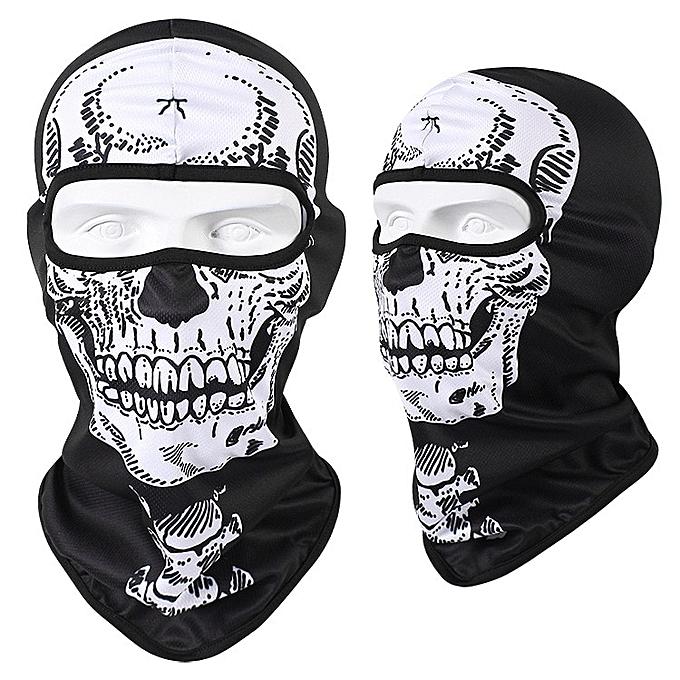 Autre WOSAWE 3D Skull Motorcycle Balaclava Full Face Mask Warmer Motor Helmet Liner Ski Paintball Snowboard Biker Riding Shield Hood( CS1KL) à prix pas cher