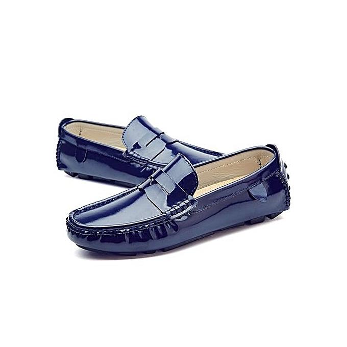 Fashion Casual Shoes Sequins Genuine Leather Slip-on Shoes-Blue à prix prix prix pas cher  | Jumia Maroc 3da148