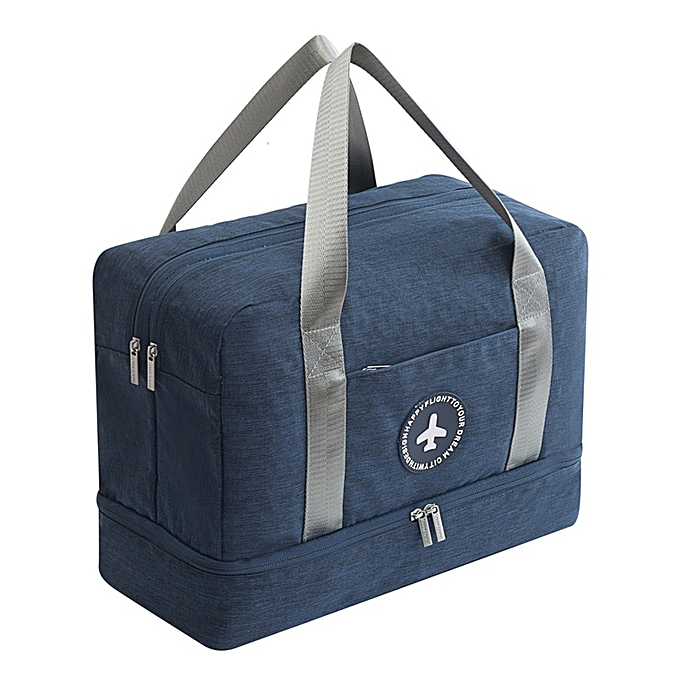 Other Men's dry and wet separation travel bag beach waterproof chaussures bag ladies swimwear storage wash bag fitness suitcase(Navy bleu) à prix pas cher