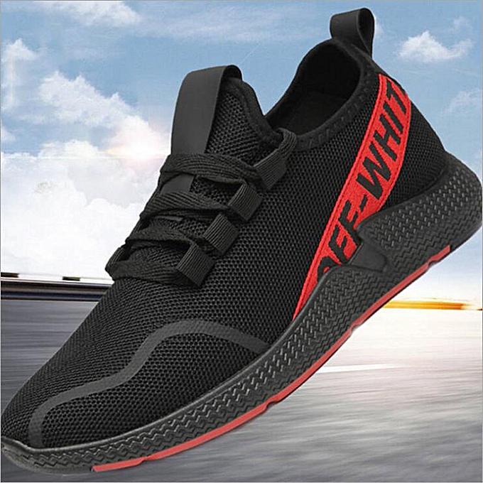 mode lumièreweight and wearable student FonctionneHommest chaussures noir rouge à prix pas cher