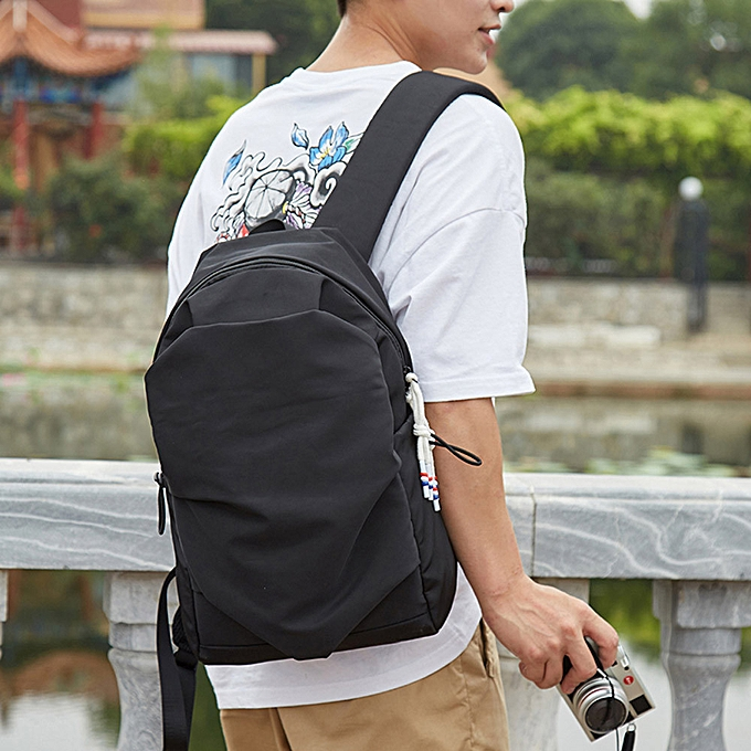 Fashion jiahsyc store Lightweight Foldable Backpack Waterproof Bag Portable Men femmes Backpack Travel -noir à prix pas cher